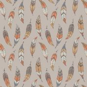 Lewis & Irene To Catch a Dream - 5031 - Feathers on Taupe - A174.2 - Cotton Fabric